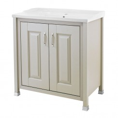 Old London Stone Grey Traditional 800mm Vanity Cabinet & Basin