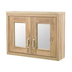 Old London Natural Walnut Traditional  Bathroom Cabinet Mirror