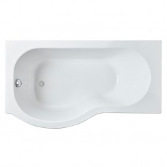P Shape Shower Bath 1500mm LH