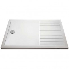 Rectangular Walk-In Shower Tray 1400mm x 900mm - White