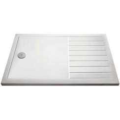 Rectangular Walk-In Shower Tray 1600mm x 800mm - White