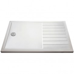 Rectangular Walk-In Shower Tray 1700mm x 800mm - White