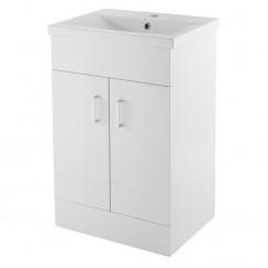 Eden Floor Standing 500mm Cabinet & Basin 1