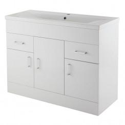 Eden 1000mm Floor Standing Cabinet & Basin 2