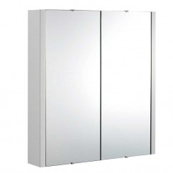 Parade Gloss Grey Mist 600mm 2 Door Mirror Cabinet