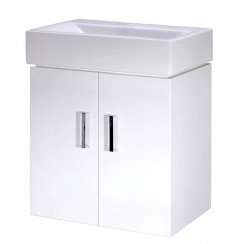 Checkers Minimalist 450mm Wall Hung Cabinet & Basin