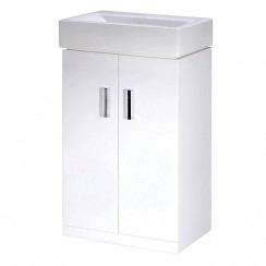 Checkers Minimalist 450mm Floor Standing Cabinet & Basin
