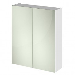 Athena Quartet White Gloss Mirror Cabinet 600mm