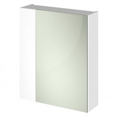 600mm 2 Door Mirror Unit In Gloss White 75/25