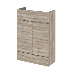 600mm Compact Vanity Unit In Driftwood