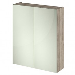 Athena Driftwood 600mm 2 Door Mirror Unit In 50/50