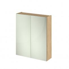 Quartet Natural Oak Mirror Cabinet 600mm