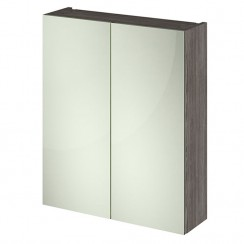 Athena Brown Grey Avola 600mm 2 Door Mirror Unit 50/50