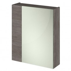 Athena Brown Grey Avola 600mm 2 Door Mirror Unit 75/25