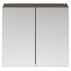 Athena Brown Grey Avola 800mm Mirror Unit 2 Door 50/50