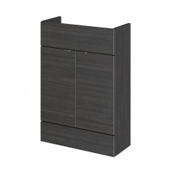 600mm Compact Vanity Unit In Hacienda Black