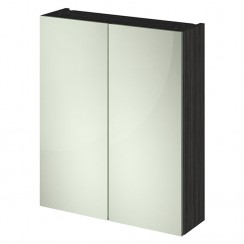 Athena Hacienda Black Quartet Mirror Cabinet 600mm