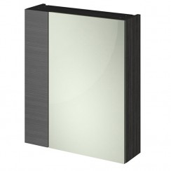 Athena Hacienda Black 600mm 2 Door Mirror Unit In 75/25