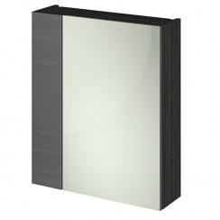 600mm 2 Door Mirror Unit In Hacienda Black 75/25