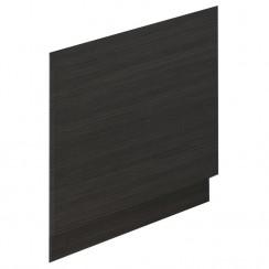 Hudson Reed Black Hacienda 700mm MDF Bath End Panel & Plinth