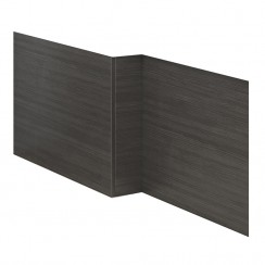 Black Hacienda 1700mm MDF Shower Bath Front Panel