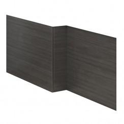 Hudson Reed Black Hacienda 1700mm MDF Shower Bath Front Panel