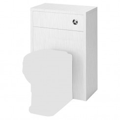 York Porcelain White Ash 500mm WC Unit