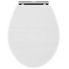York Porcelain White Ash Soft Close Toilet Seat
