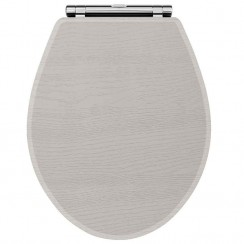 York Stone Grey Woodgrain Soft Close Toilet Seat