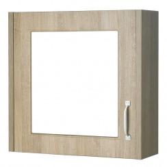 York Gladstone Oak 600mm 1 Door Mirror Cabinet