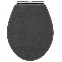 York Royal Grey Woodgrain Soft Close Toilet Seat