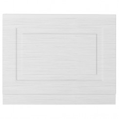 York Porcelain White Ash 750mm Bath End Panel