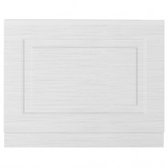 York Porcelain White Ash 800mm Bath End Panel