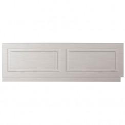 York Stone Grey Woodgrain 1800mm Bath Front Panel