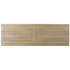 York Gladstone Oak 1700mm Bath Front Panel