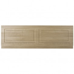 York Gladstone Oak 1800mm Bath Front Panel