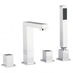 Kubix 4 Tap Hole Bath Shower Mixer Tap