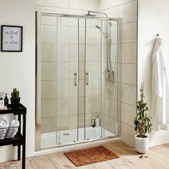 Pacific 1400mm Shower Enclosure Double Sliding Door