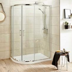 Pacific 900 x 760mm Offset Quadrant Shower Enclosure