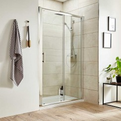 Pacific 1500mm Shower Enclosure Single Sliding Door
