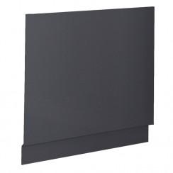 Grey Gloss 750mm MDF Bath End Panel & Plinth