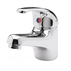 Eon Mono Basin Mixer Tap with Push Button Waste