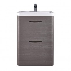 Eclipse 600mm Floor Standing  Mounted Cabinet & Basin
