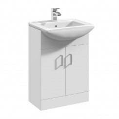 Saturn Square Basin & Unit High Gloss White