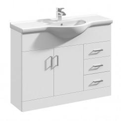 Mayford 1050mm Floor Standing Cabinet & Basin 1
