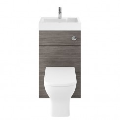 Athena Brown Grey Avola 500mm Floor Standing WC & Vanity unit