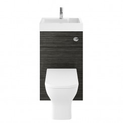 Athena Hacienda Black 500mm Floor Standing WC & Vanity unit