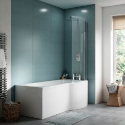 Premier Complete P-Shape Shower Bath 1500 x 900mm RH - PBS035