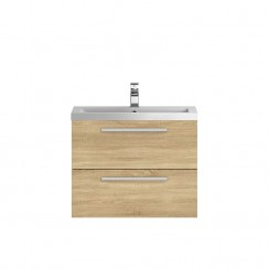 Quartet Natural Oak Wood 720mm Cabinet & Basin