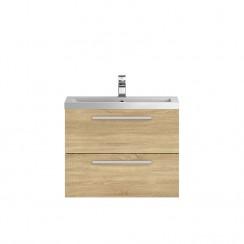 Quartet Natural Oak Wood 720mm Cabinet & Basin